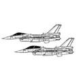 mitsubishi f-2 vector image vector image