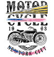 motorsports logo tee denim jersey and fashion vector image vector image