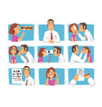 ophthalmology diagnostics male ophthalmologist vector image vector image