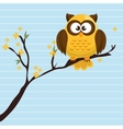owl yellow tree leaves yellow vector image vector image