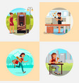 people with various addictions flat vector image vector image