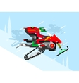 Racing competitions on snowmobiles vector image vector image