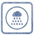 rain cloud fabric textured icon vector image vector image