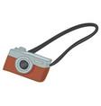 retro camera with strap vintage photo device vector image