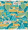 Retro seamless travel pattern vector image vector image