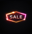 sale glowing neon sign on transparent background vector image