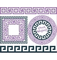 Set 5 Brushes Greek Meander patterns vector image vector image