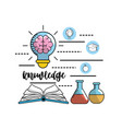 set school utensils to education knowledge vector image vector image
