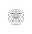 sri yantra vector image vector image