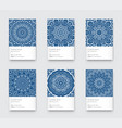 trendy classic blue color minimal graphic vector image vector image