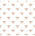 Uterus and ovaries pattern cartoon style vector image vector image