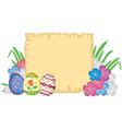 Easter congratulatory background vector image