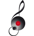 treble clef in the form of turntable vector image