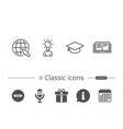 book graduation cap and internet tutorial vector image