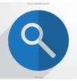 search web flat icon vector image