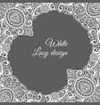 white lacy ornamental card design vector image