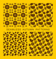 autumnal seamless pattern vector image