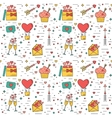 Color modern seamless pattern for Valentines Day vector image
