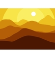 Mountains on the Sun background EPS10 vector image