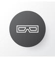3d glasses icon symbol premium quality isolated vector image