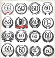 60 years anniversary laurel wreaths vector image vector image