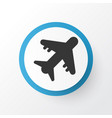 aircraft icon symbol premium quality isolated vector image vector image
