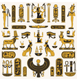 Ancient Egyptian symbols vector image vector image