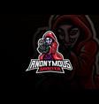 anonymous mascot sport logo design vector image vector image