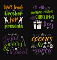 beautiful christmas calligraphy quotes set vector image