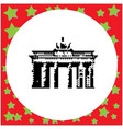 berlin brandenburg gate or brandenburger tor vector image