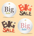 Big Sale Labels - Tags Set vector image vector image
