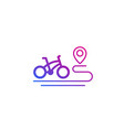 bike and route icon on white vector image