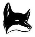 black fox sign vector image vector image