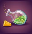 bottle with clover leaf magic elixir vector image vector image