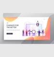 business people checking and signing contract vector image vector image