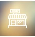 Business shop thin line icon vector image