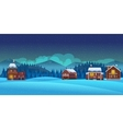 Cartoon winter landscape background vector image vector image