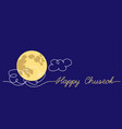 chuseok blue night background with moon vector image