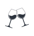 clink glasses vector image vector image