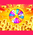 colorful fortune wheel wins the jackpot vector image vector image