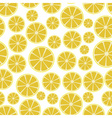 colorful sliced lemon fruits seamless white vector image vector image