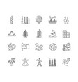 country line icons signs set outline vector image vector image