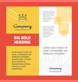 crown company brochure title page design company vector image