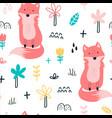 cute fox for print design vector image