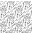 doodle pattern with flowers and ladybird coloring vector image vector image