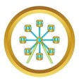 Ferris wheel icon vector image vector image
