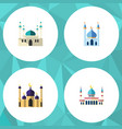 flat icon mosque set of mosque architecture vector image vector image