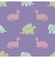 Funny dinosaurs Seamless background vector image vector image