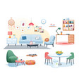 furniture decoration in home interior vector image vector image
