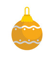 gold decorative christmas ball vector image vector image